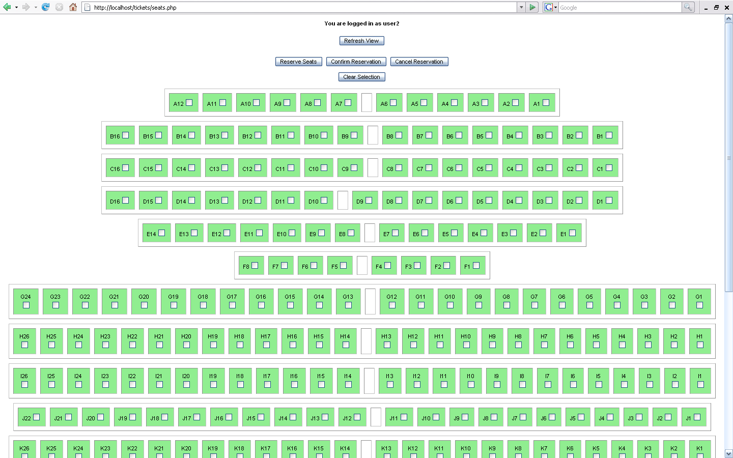Seat Booking System Php Adobe Community